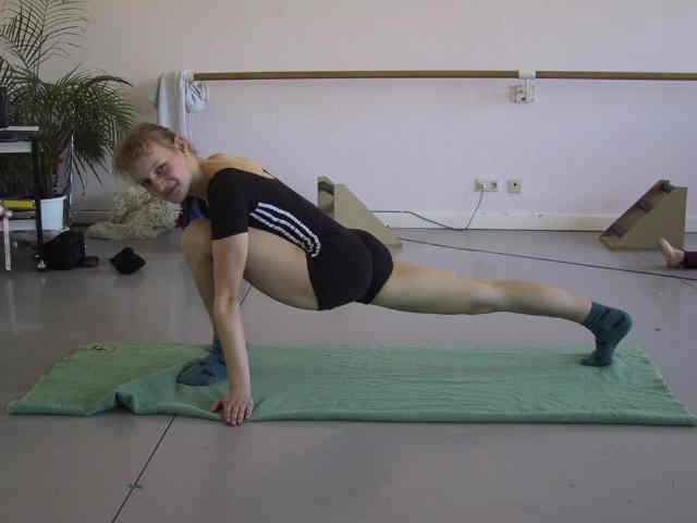 füße eines balletttänzerin